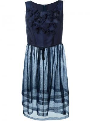 Платье с оборками Comme Des Garçons Girl. Цвет: синий