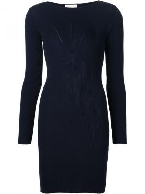 Облегающее платье в рубчик Maison Ullens. Цвет: синий