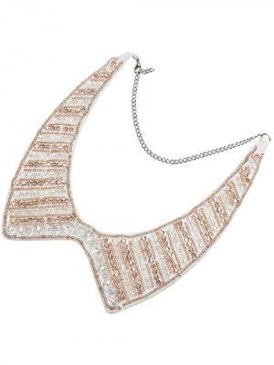 Воротник-ожерелье Chantal. Цвет: серебристый, бежевый, белый
