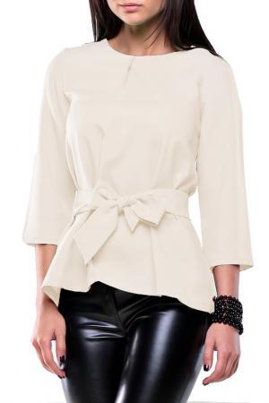 Блуза REBECCA TATTI. Цвет: молочный