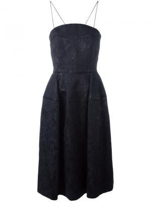 Платье букле А-образного силуэта Talbot Runhof. Цвет: чёрный