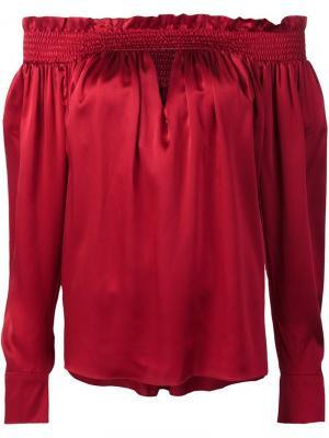 Блузка с приспущенными плечами Alexandre Vauthier. Цвет: красный