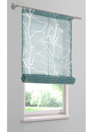 Римская штора Pattani MY HOME. Цвет: зелено-синий, терракотовый