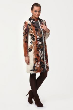 Пальто Yuko-Selena. Цвет: молочный