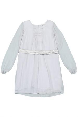 Платье с поясом Dino e Lucia. Цвет: серый