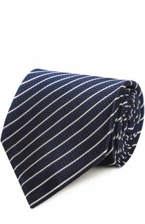 Шелковый галстук в полоску Tom Ford. Цвет: темно-синий