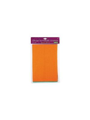 НАБОР.ПОДЕЛОЧНЫЙ ПЛЮШ ЯРКИЕ ЦВЕТА  А4, 5 Л./5 ЦВ. Альт. Цвет: оранжевый, светло-коричневый, рыжий