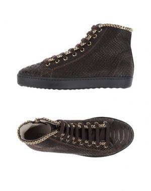Высокие кеды и кроссовки STOKTON. Цвет: темно-коричневый