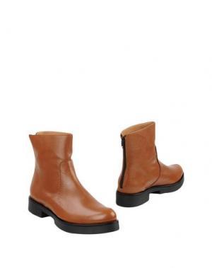 Полусапоги и высокие ботинки LEONARDO PRINCIPI. Цвет: желто-коричневый