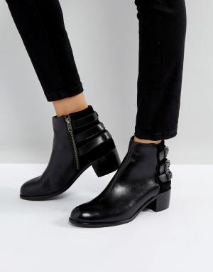 Hudson London Кожаные ботинки с пряжками H by. Цвет: черный