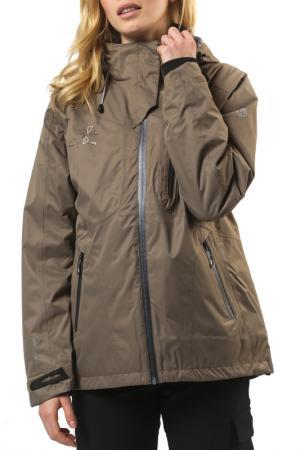 Спортивная куртка WAFO. Цвет: коричневый