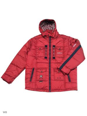 Куртка OLSER. Цвет: бордовый