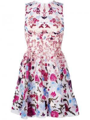 Расклешенное платье с пайетками Zuhair Murad. Цвет: многоцветный