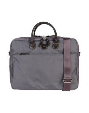 Деловые сумки BRIC'S. Цвет: свинцово-серый