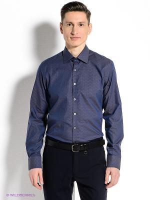 Рубашка MONDIGO. Цвет: синий, черный