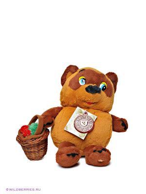 Мягкая игрушка «Винни Пух с корзинкой» Мульти-пульти. Цвет: коричневый