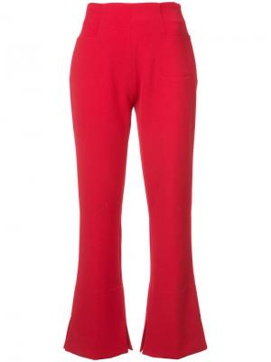 Расклешенные брюки Goswell Roland Mouret. Цвет: красный