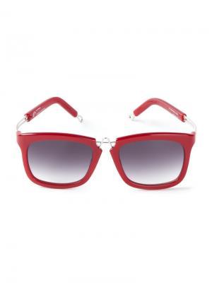 Солнцезащитные очки Pq By Ron Arad. Цвет: красный