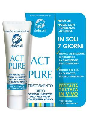 Очищающее средство от АКНЕ - Act Pure 25мл DoBrasil. Цвет: молочный