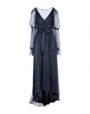 Платье длиной 3/4 PHILOSOPHY DI LORENZO SERAFINI. Цвет: синий
