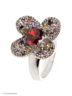 Кольцо Lovely Jewelry. Цвет: серебристый, красный