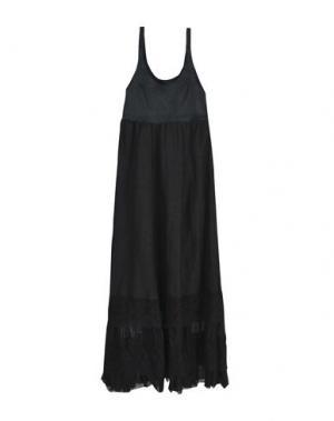Длинное платье DA ROLD LECUIRPERDU. Цвет: черный