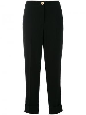 Строгие прямые брюки Salvatore Ferragamo. Цвет: чёрный