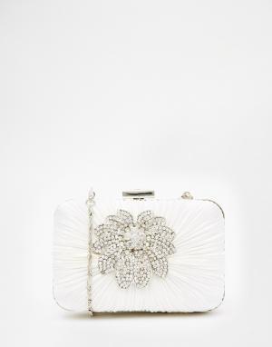 Vintage Styler Клатч с цветком. Цвет: белый