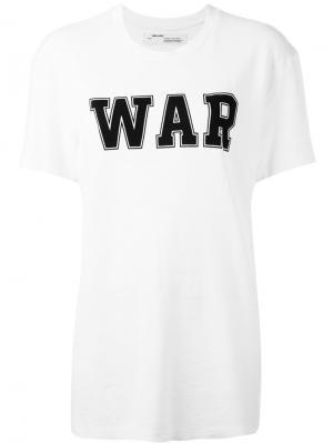 Футболка War Off-White. Цвет: белый