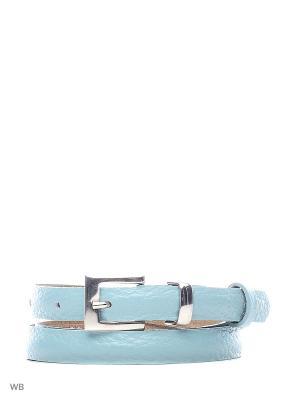 Ремень Stefania Morri. Цвет: голубой