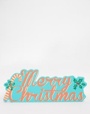 Temerity Jones Пластина с надписью Merry Christmas. Цвет: мульти