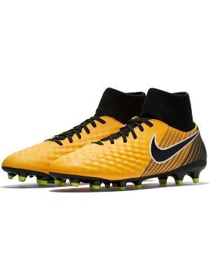 Бутсы MAGISTA ONDA II DF FG Nike. Цвет: оранжевый, черный