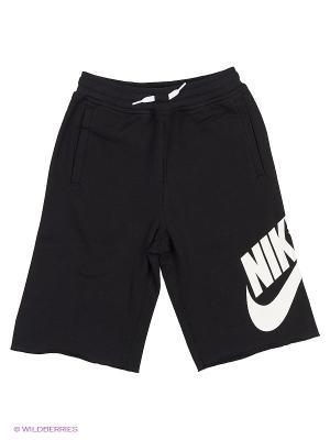 Шорты YA FT ALUMNI SHORT YTH Nike. Цвет: серый, черный