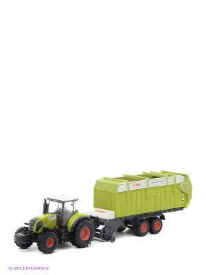 Игрушечный трактор с загрузочным бункером SIKU. Цвет: зеленый, черный