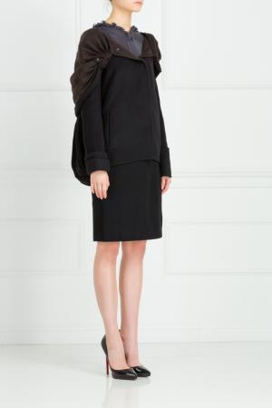 Шерстяное пальто Maurizio Pecoraro. Цвет: черный