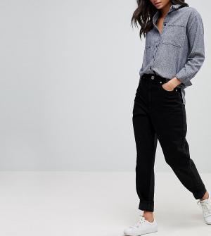 ASOS Tall Выбеленные черные джинсы с широкими штанинами. Цвет: синий