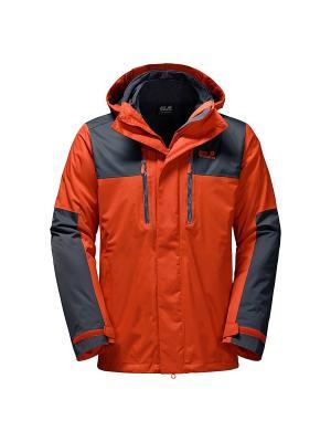 Куртка JASPER 3IN1 MEN Jack Wolfskin. Цвет: оранжевый