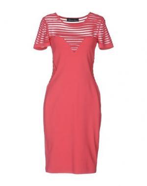 Платье до колена ANTONINO VALENTI. Цвет: коралловый