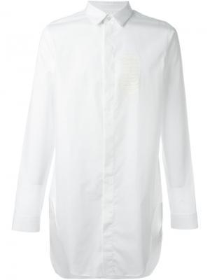 Удлиненная рубашка Cy Choi. Цвет: белый