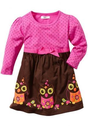 Платье. Цвет: фуксия/темно-коричневый