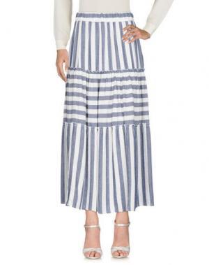 Длинная юбка GUTTHA. Цвет: синий