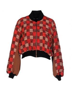 Куртка PAOLO ERRICO. Цвет: коралловый