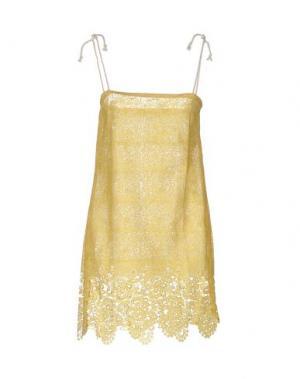 Короткое платье F**K PROJECT. Цвет: желтый