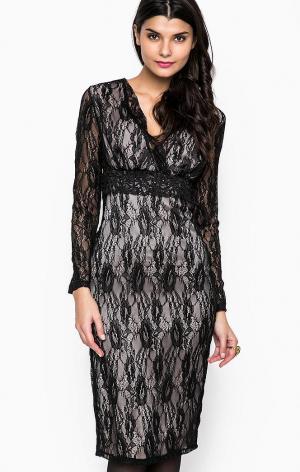 Платье POIS. Цвет: черный