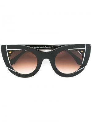 Солнцезащитные очки Wavvy Thierry Lasry. Цвет: чёрный