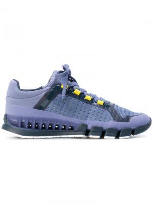 Кроссовки на шнуровке Adidas By Stella Mccartney. Цвет: розовый и фиолетовый