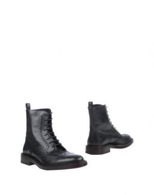Полусапоги и высокие ботинки ORTIGNI. Цвет: стальной серый