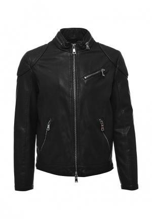 Куртка кожаная Marciano Guess. Цвет: черный