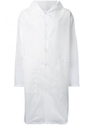 Пальто с капюшоном Yoshio Kubo. Цвет: белый