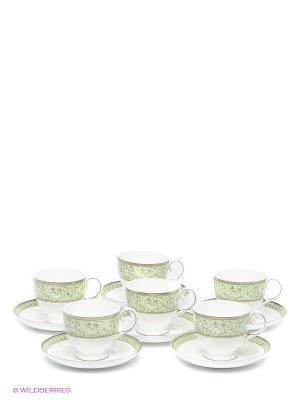 Чайный набор Аделина Pavone. Цвет: белый, светло-зеленый